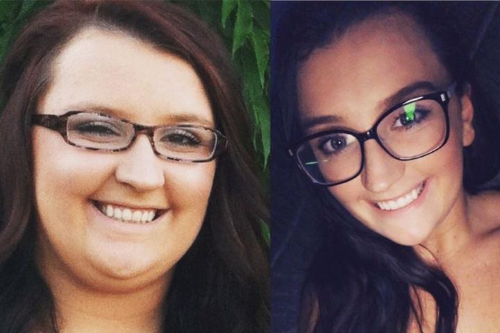 Kaum zu erkennen: Das ist beides Felicia Keathley (22).