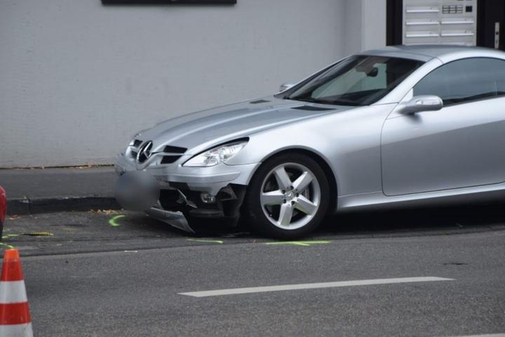 Der Mercedes des Unfallverursachers.