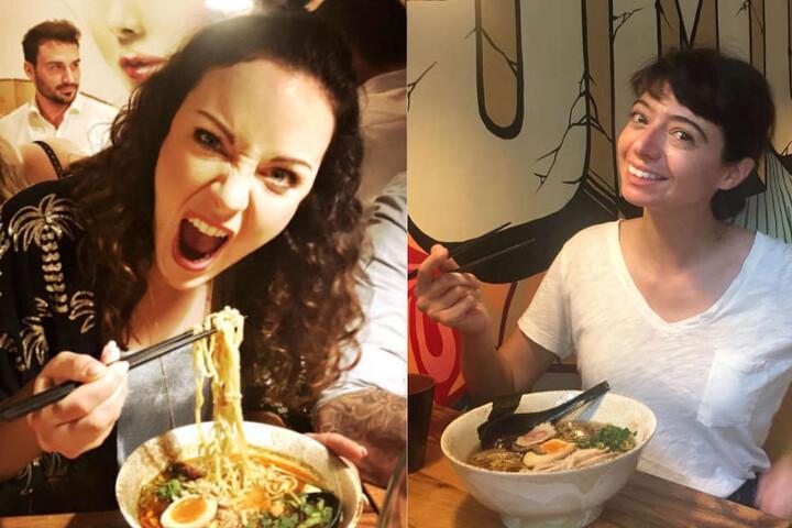 Jasmin Wagner und Kate Micucci schmeckt's.