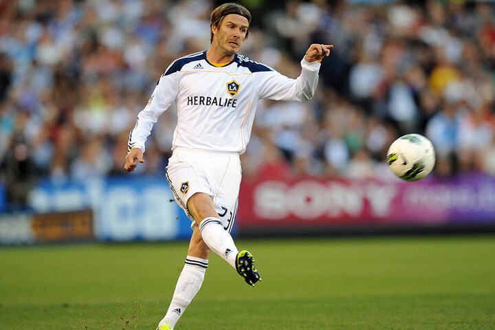 David Beckham war Bryan Gauls Teamkollege bei Los Angeles Galaxy.