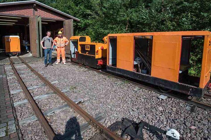 Zum ersten Mal seit fast 20 Jahren steht die Grubenbahn still. Eine neue Batterie muss her.