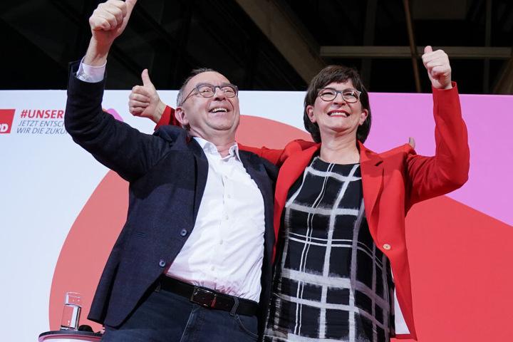 Norbert Walter-Borjans und Saskia Esken stellen die neue Führungsspitze der SPD.