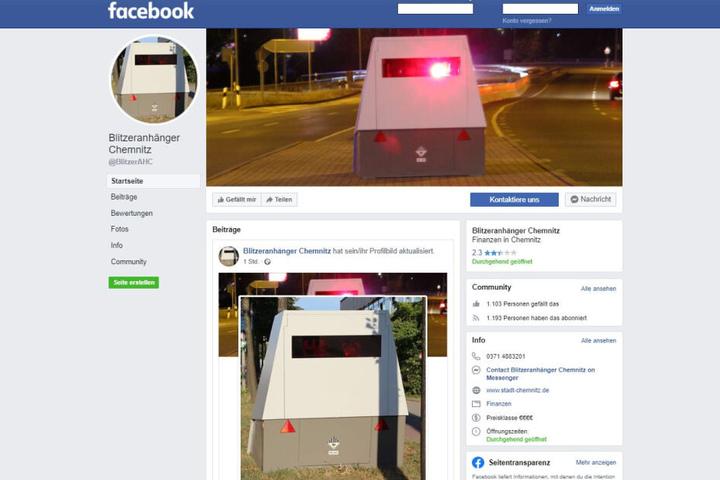 """Die Facebook-Seite """"Blitzeranhänger Chemnitz"""" hat schon mehr als 1000 Fans."""