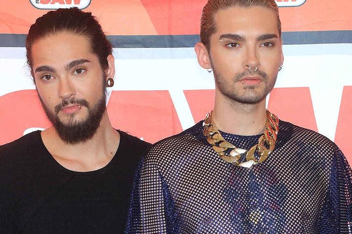 """Die Zwillingsbrüder Bill (re.) und Tom Kaulitz von der Band """"Tokio Hotel""""."""