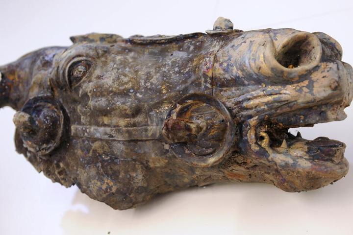 Das Original des seltenen Ausgrabungsstückes ist normalerweise auf der Saalburg zu sehen.