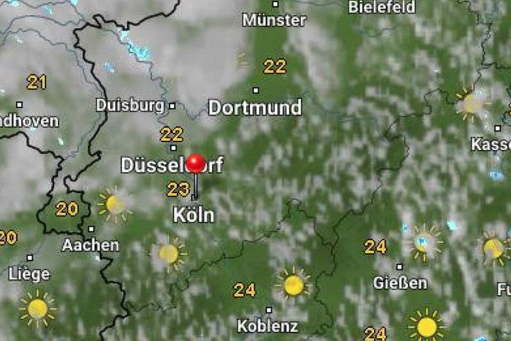 Die Temperaturen in NRW können auf bis zu 28 Grad klettern.