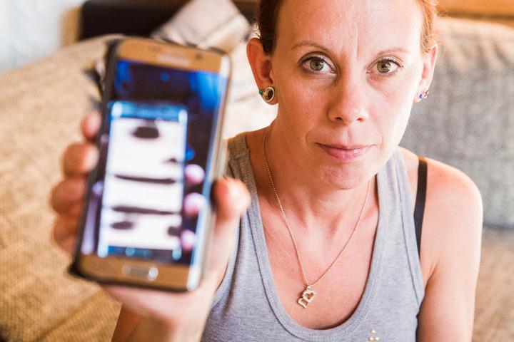 Die 33 Jahre alte Angelika Rouyer bekam bei dem Blick auf ihr Handy beinahe einen Herzinfarkt.