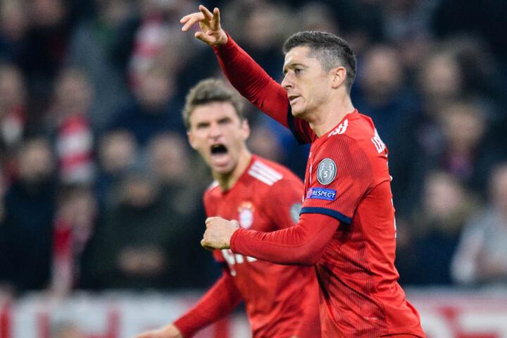 Robert Lewandowski und der FC Bayern München haben gegen AEK Athen erneut einen Sieg gefeiert.