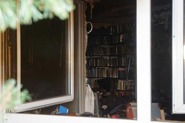 In dieser Wohnung starb ein Mann bei einem Brand.