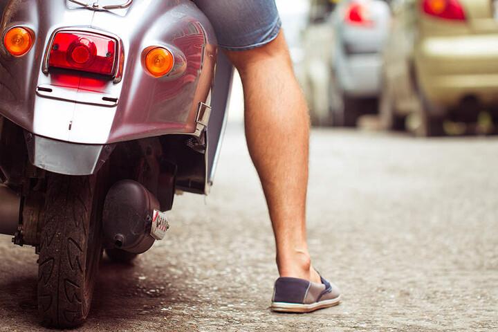 Das Moped fing sehr schnell Feuer. (Symbolbild)