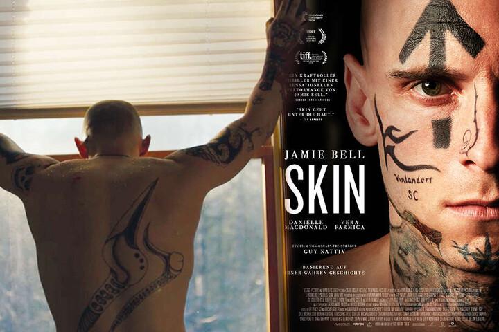 Bryon Widner (Jamie Bell) lässt sich nach und nach und unter großen Schmerzen seine Tattoos entfernen.