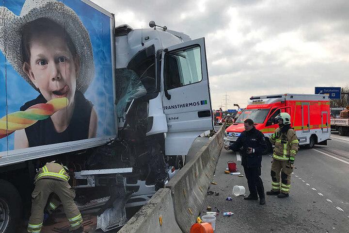 Für die Rettungskräfte war es ziemlich schwierig an die Unfallstelle zu gelangen.