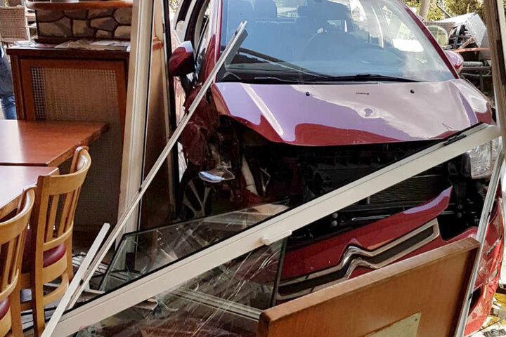 Wie durch ein Wunder wurde bei dem Crash niemand verletzt.