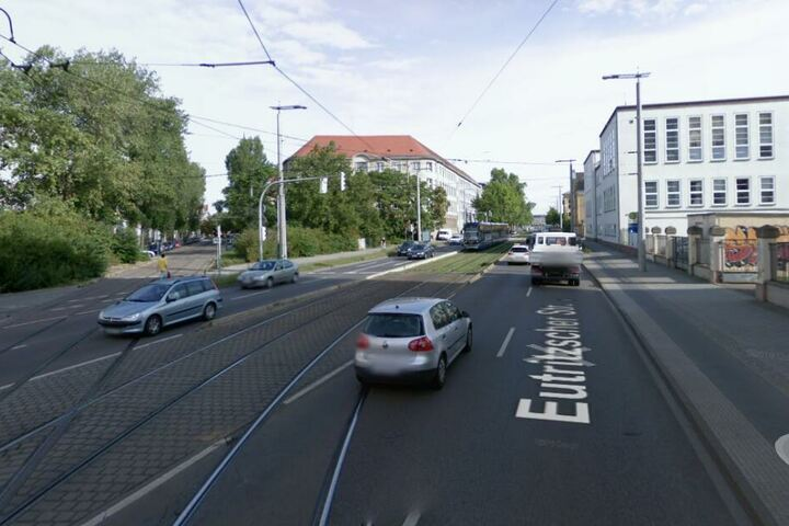 Ebenfalls betroffen: Die Eutritzscher Straße im Leipziger Norden.