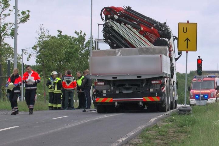 Der Lastwagenfahrer war gerade auf dem Weg in ein Neubaugebiet.