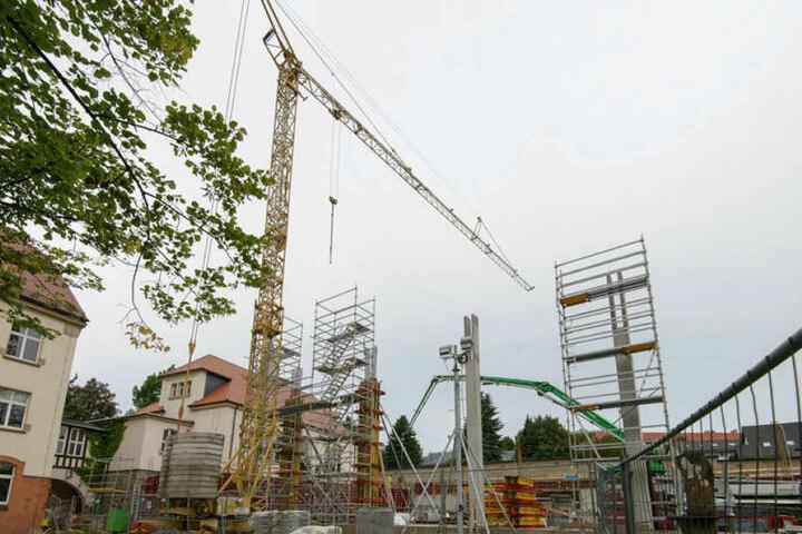 Fünf Millionen Euro kostet die Zweifelder-Sporthalle des Clemens-Winkler-Gymnasiums.