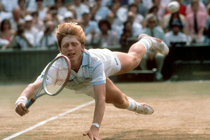 Mit 17 Jahren in Wimbledon: Damals durfte er nach US-Recht wirklich noch kein Bier kaufen.