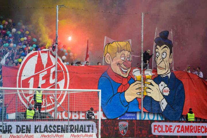Knapp 2000 FC-Fans begleiteten ihr Team am Karnevalssonntag nach Ingolstadt.