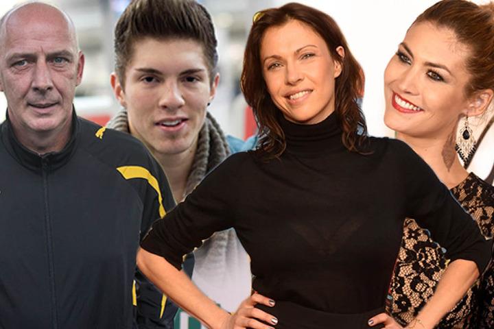 Ex-Fußballer Mario Basler (49), DSDS-Sternchen Joey Heindle (24), Schauspielerin Jana Pallaske (38) und Model Fiona Erdmann (29).