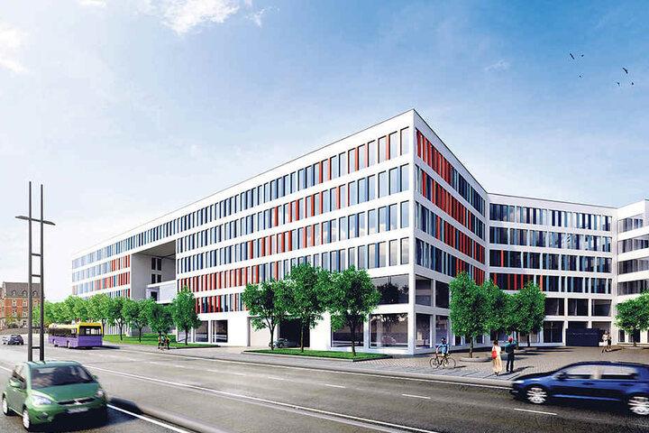 So soll das neue Technische Rathaus aussehen, wenn es in einem Jahr eröffnet wird.