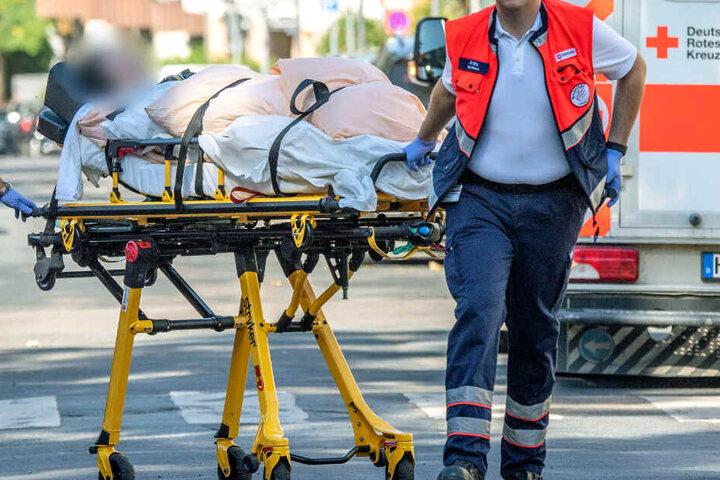 Bereits am Samstag war ein Pflegeheim im Evakuierungsbereich geräumt worden.
