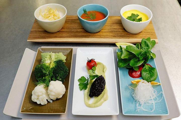"""Im """"gesunden Baustein"""" dreht sich alles um kleine Süppchen und gesundes Gemüse."""