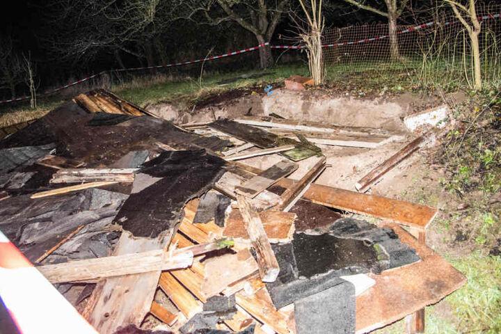 Unter diesen Trümmern wurde der 65-Jährige begraben.