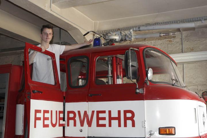 Mit diesem Wasserwerfer der Feuerwehr ging der Staat 1989 gegen Plauener Bürger vor.