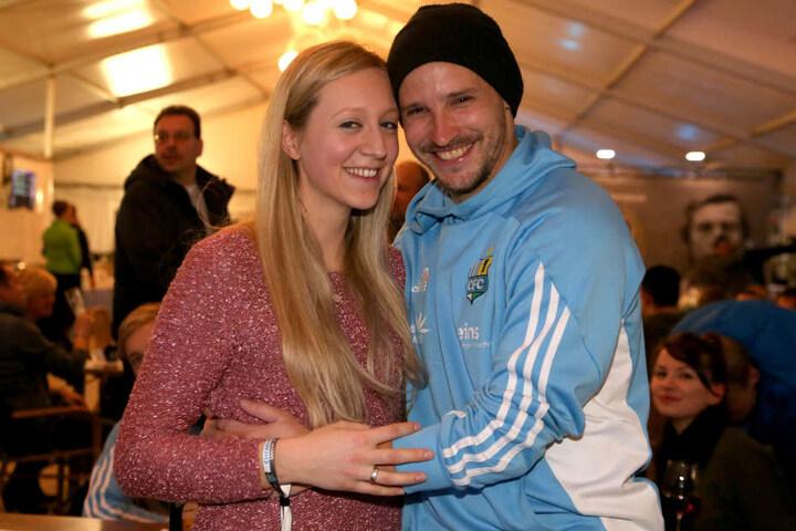 Anton Fink mit seiner Frau Jasmin.