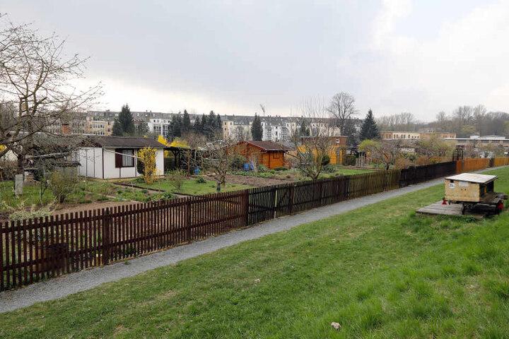 """Auch in der Gartenanlage """"Sachses Ruh"""" in Altchemnitz waren die Einbrecher  unterwegs."""