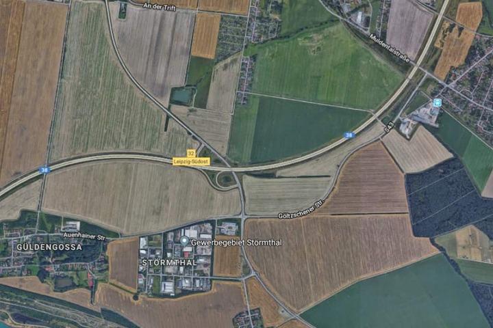 Der Vorfall ereignete sich im Bereich der Anschlussstelle Leipzig-Südost.