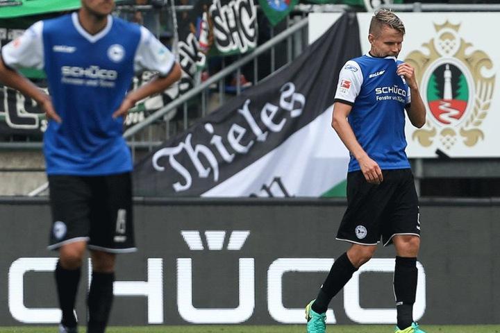 Sebastian Schuppan war der Pechvogel des Spiels. Zwei Eigentore kosteten der Arminia den ersten Saisonsieg.