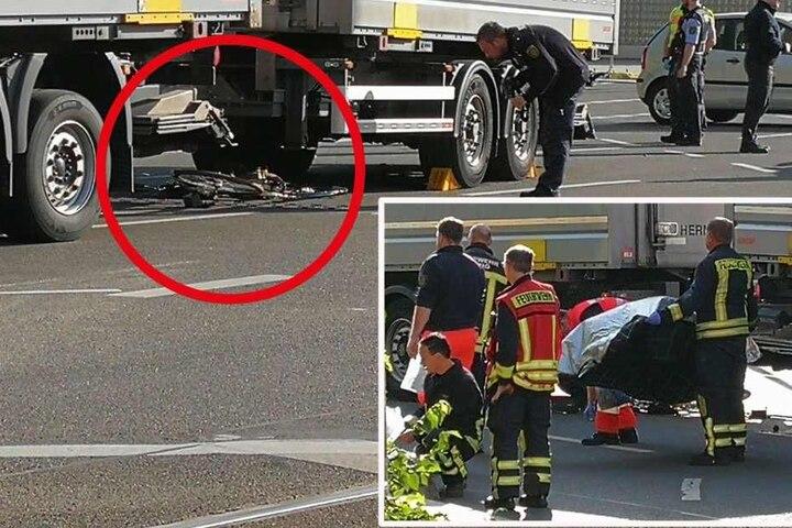 Radfahrerin in Leipzig nach Unfall mit Lkw gestorben