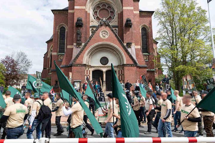 """Die rechte Partei """"Der Dritte Weg"""" plant eine Demo in Plauen."""