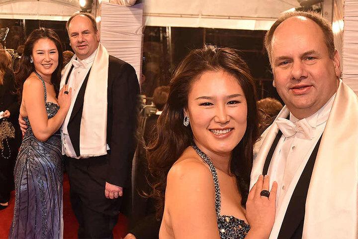 Dresdens OB Dirk Hilbert (46, rechts) mit seiner Frau Su Yeon.