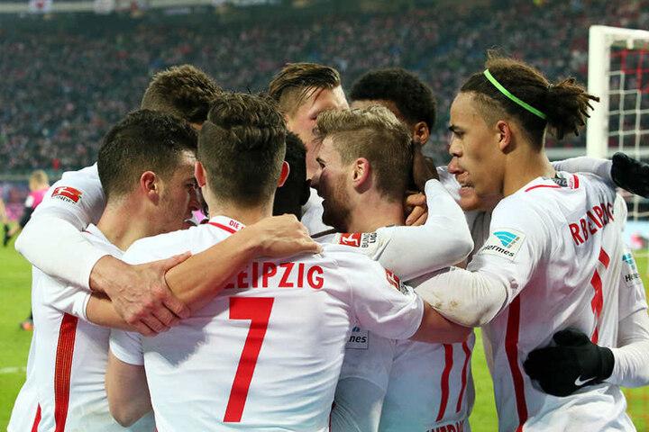 Jubel bei den Leipzigern: Klarer Sieg gegen Hertha BSC.