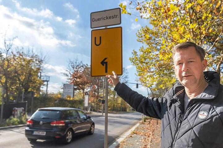 Warnt vor einem Chaos Montagfrüh im Harthweg: Stadtrat Andreas Schmalfuß (52).