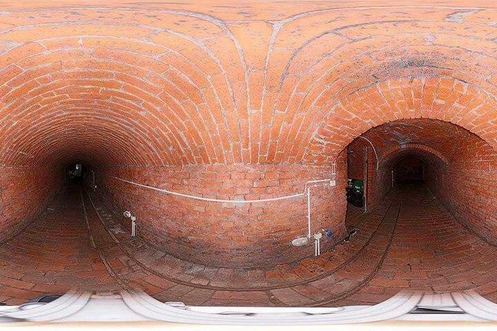 Diese Testaufnahme ist in einem Chemnitzer Gewölbegang entstanden.