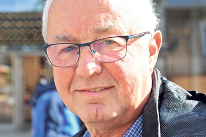 """Dieter Ringk (65), Rentner aus Chemnitz, ist überzeugt: """"Ich wähle wie immer Die Linke. Das sind für mich die Verlässlichsten."""""""