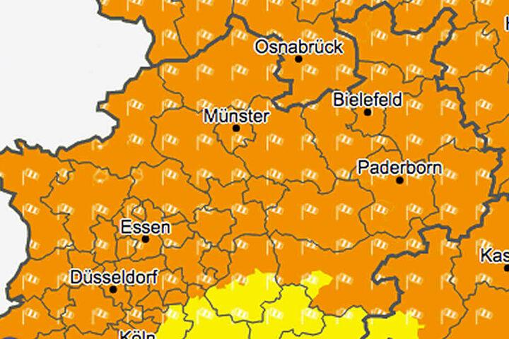 In weiten Teilen von NRW muss mit starken Windböen gerechnet werden.