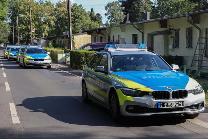 Die Polizei sicherte den Einsatz mit verstärkter Präsenz ab.