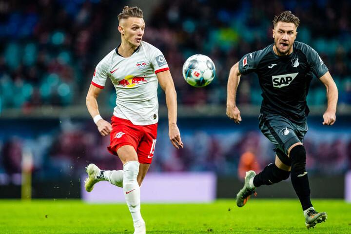 Hannes Wolf feierte gegen Hoffenheim nach halbjähriger Verletzungspause sein Comeback, lief nach seinem Wechsel erstmals für RB auf.