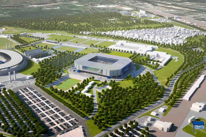 Im Schatten des Olympiastadions: Herthas neue Fußball-Arena wird mit hoher Wahrscheinlichkeit nicht im Olympia-Park gebaut werden.