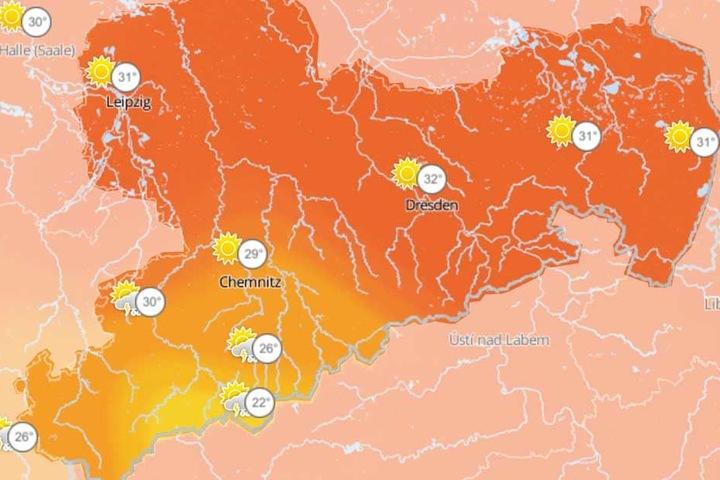 Es wird her und vor allem in Westsachsen werden ab Donnerstagnachmittag Gewitter mit Starkregen und Hagel erwartet.
