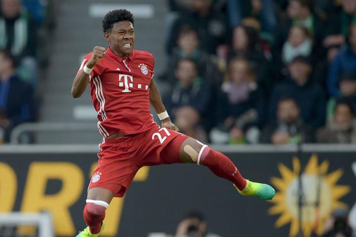 """""""Nur"""" ein Treffer von vielen: Dennoch, David Alaba jubelt über seinen Treffer zum 0:1."""