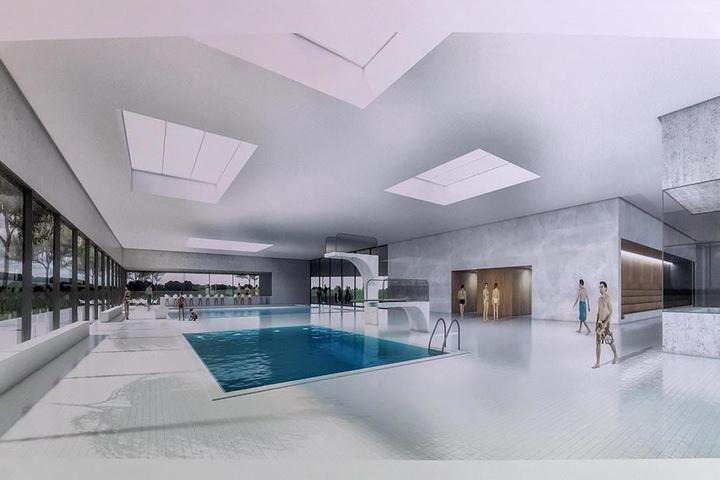 Oberlicht soll das neue Bad in Bernsdorf durchfluten.
