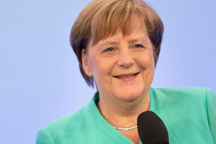Bundeskanzlerin Angela Merkel (CDU) spricht am Mittwochabend in Ravensburg über außenpolitische Themen.