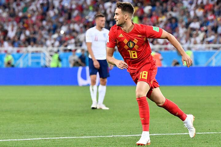 Adnan Januzaj aus Belgien entschied die Partie gegen England mit seinem Treffer.