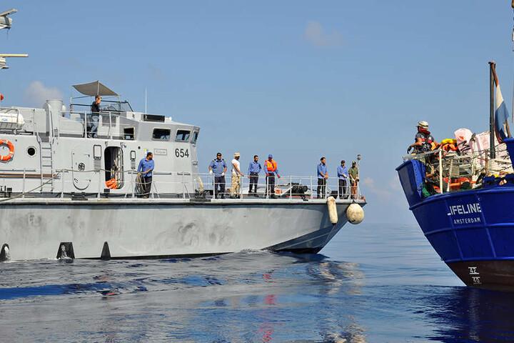 Das Rettungsschiff Lifeline der deutschen Hilfsorganisation Mission Lifeline.