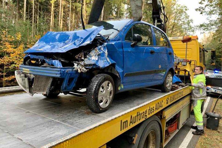 Der Kleinwagen musste abgeschleppt werden - Totalschaden!